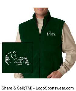 Adult Fleece Vest Design Zoom