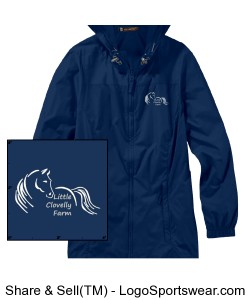 Harriton Ladies Rain Jacket Design Zoom